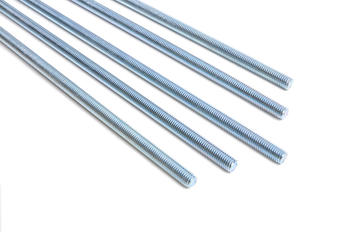 white galvanized threaded rod bsw